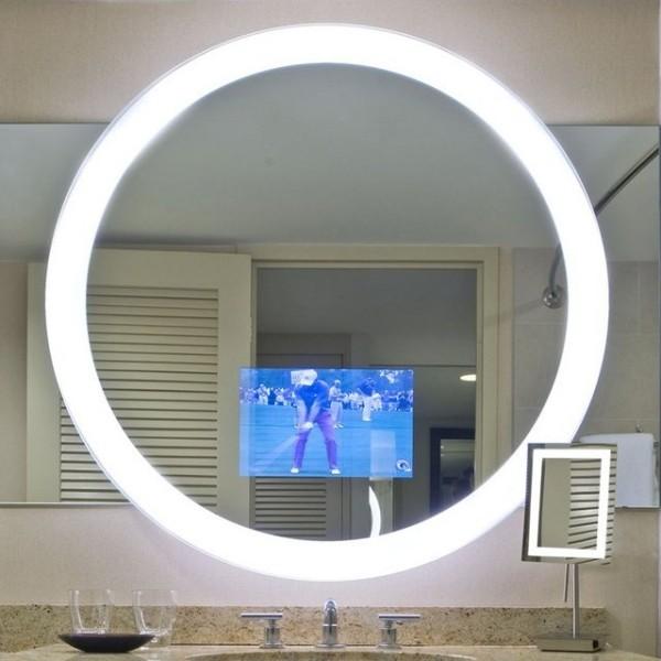 Spiegel Fernseher rundes design