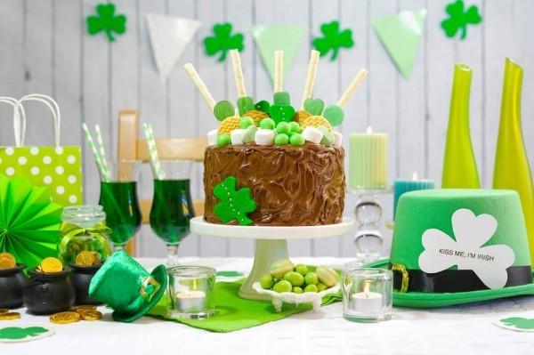 St. Patricks Day irische Spezialitäten alles grün