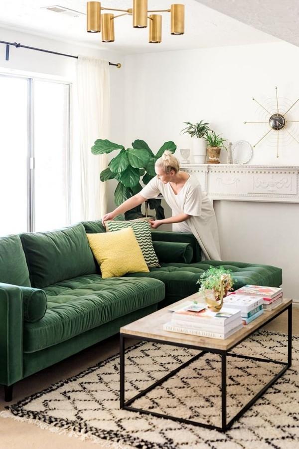 Tipps und Tricks Wohnzimmer Grün Deko Kissen frische Farben