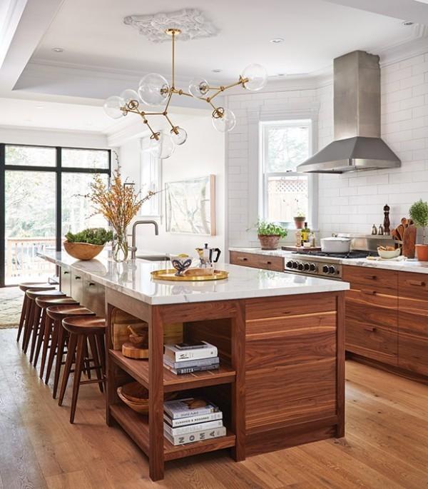 Ultra Weiß CC-10 ein schönes Farbduo Holz moderne Küche
