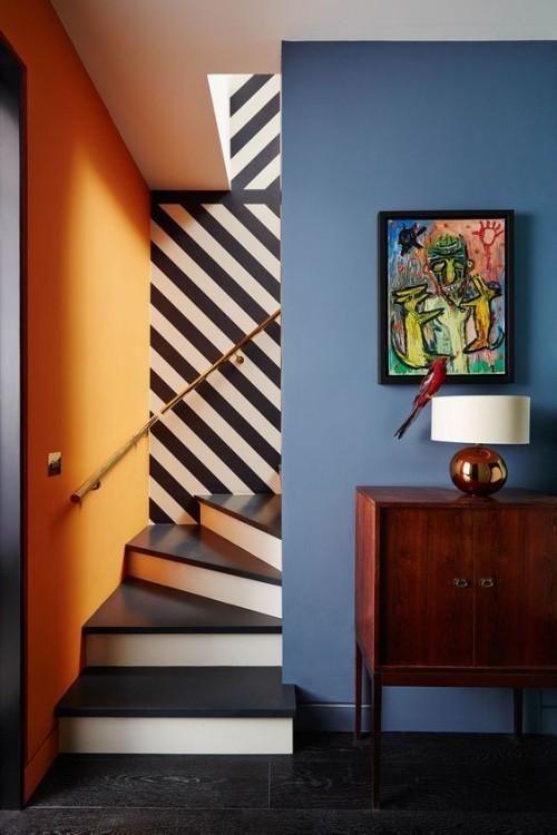 Wandfarben Ideen Hellblaue Akzentwand