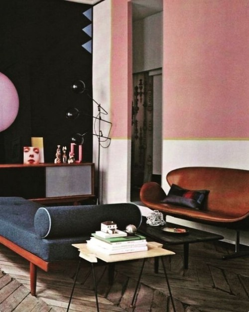 Wandfarben Ideen rosa inspiration