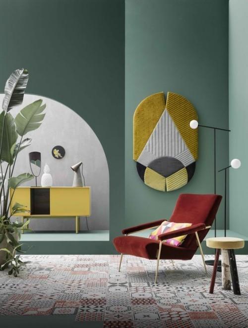 Wandfarben Ideen schönes grün