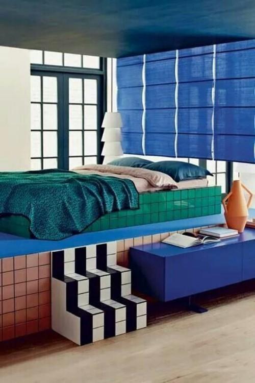 Wandfarben Ideen tolles blau