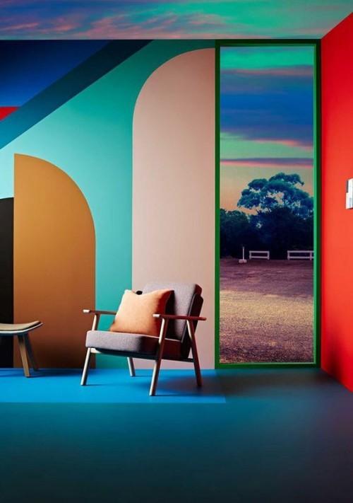 Wandfarben ideen inspirationen von pantone 2018 - Verschiedene wandfarben ...