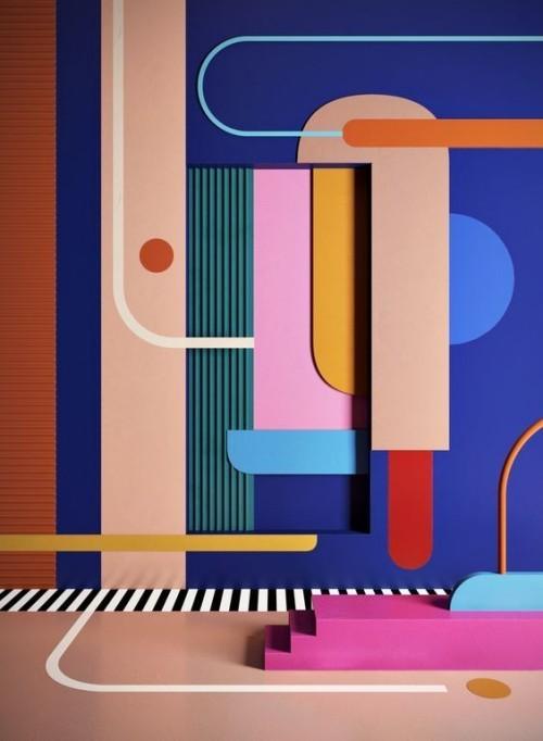 Wandfarben Ideen wie ein gemälde