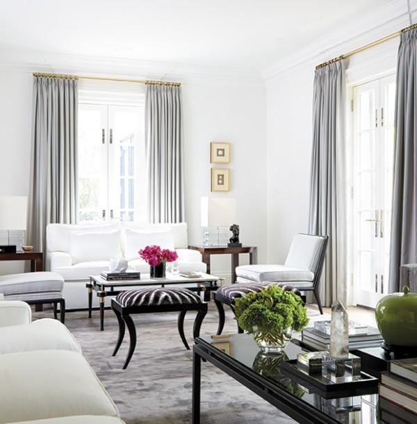 Weiß im Wohnzimmer gemusterte Hocker