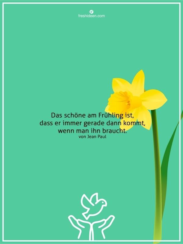 Winter ade Frühling kommt Zitate Jean Paul