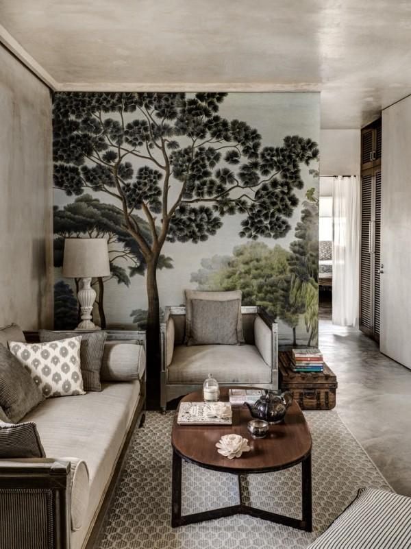 Wohnzimmer schöne Fototapete Hingucker