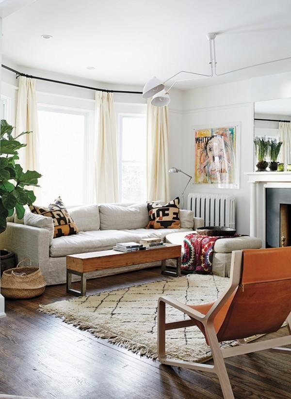 Zartes Weiß Textilien Wohnzimmer