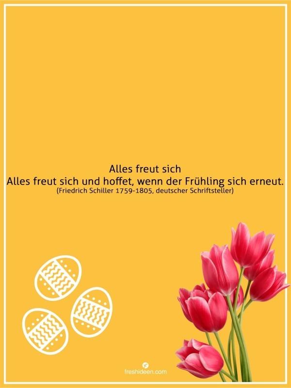 Zitate Frühling Friedrich Schiller Freude Hoffnung