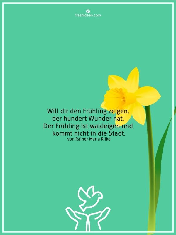 Zitate Frühling im Wald am schönsten Rainer Maria Rilke