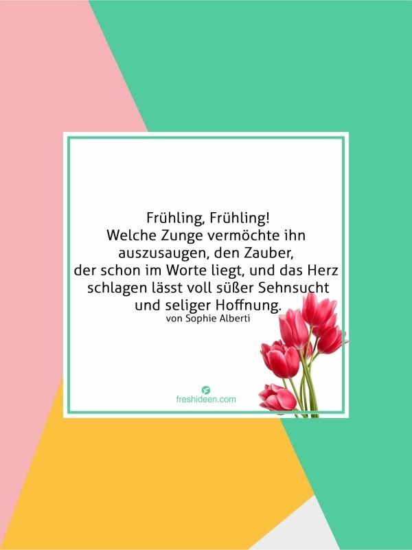 Zitate den Zauber des Frühlings zelebrieren