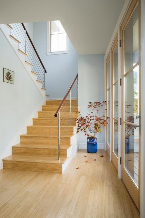Zuhause Holzboden Holztreppe
