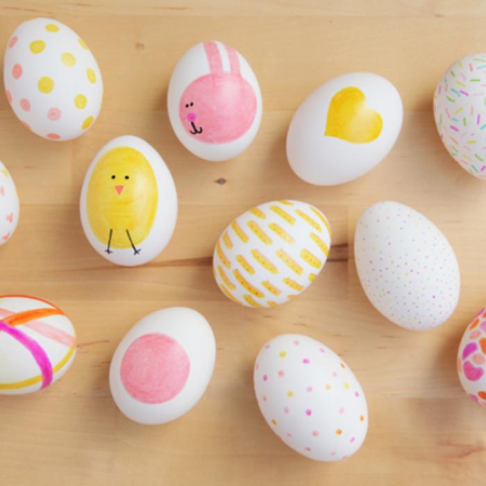 Basteln mit kindern ostern bereitet gro und klein viel freude - Eier dekorieren ...