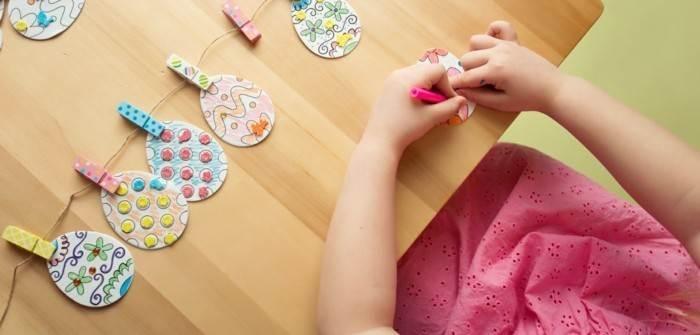 basteln mit kindern ostern kreative diy ideen