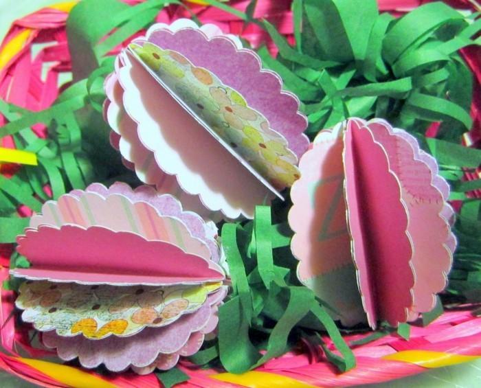 basteln mit kindern ostern schöne papiereier farbig