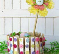 Wie kann man Frühlingsdeko aus Holz selber machen?- 30 Ideen zum Basteln mit Wäscheklammern