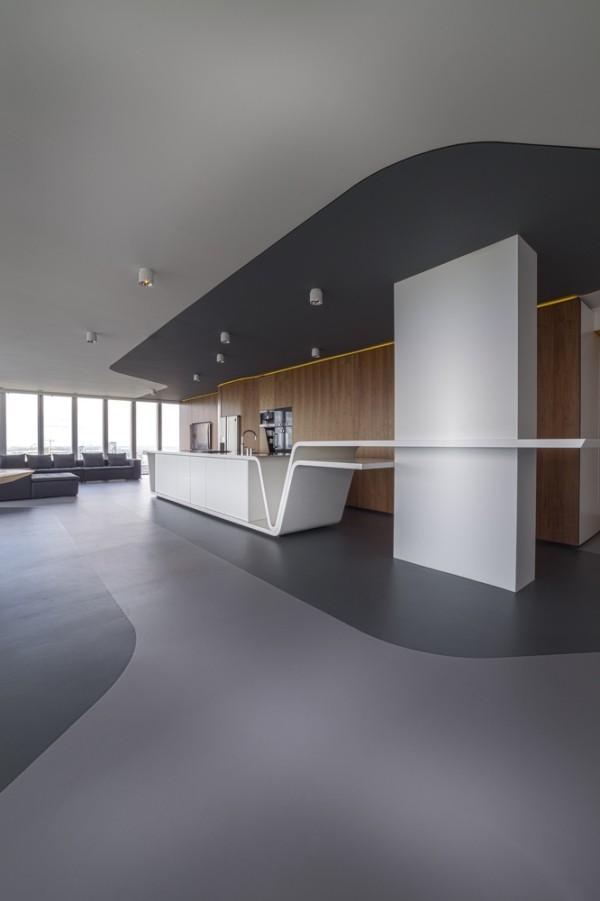 breite perspektive penthouse