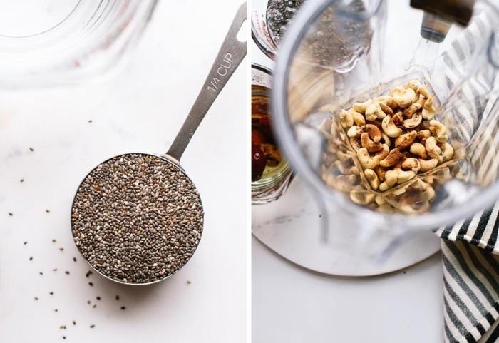 chia rezepte nüsse gesundes frühstück vegan