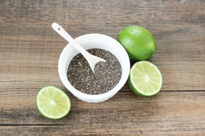 detox kur zitronenwasser limetten chia samen