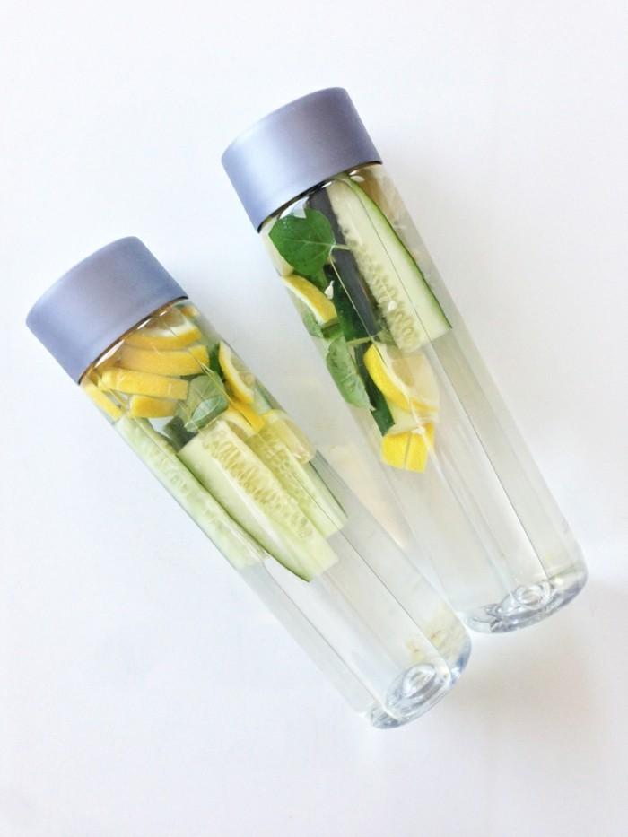 detox wasser infused water flaschen heilfasten