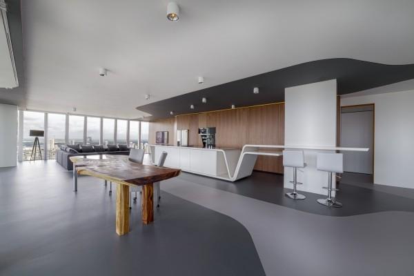 einsicht moderner wohnstil penthouse