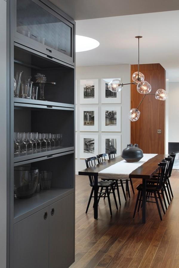 esszimmermöbel dunkle farbe elegantes design