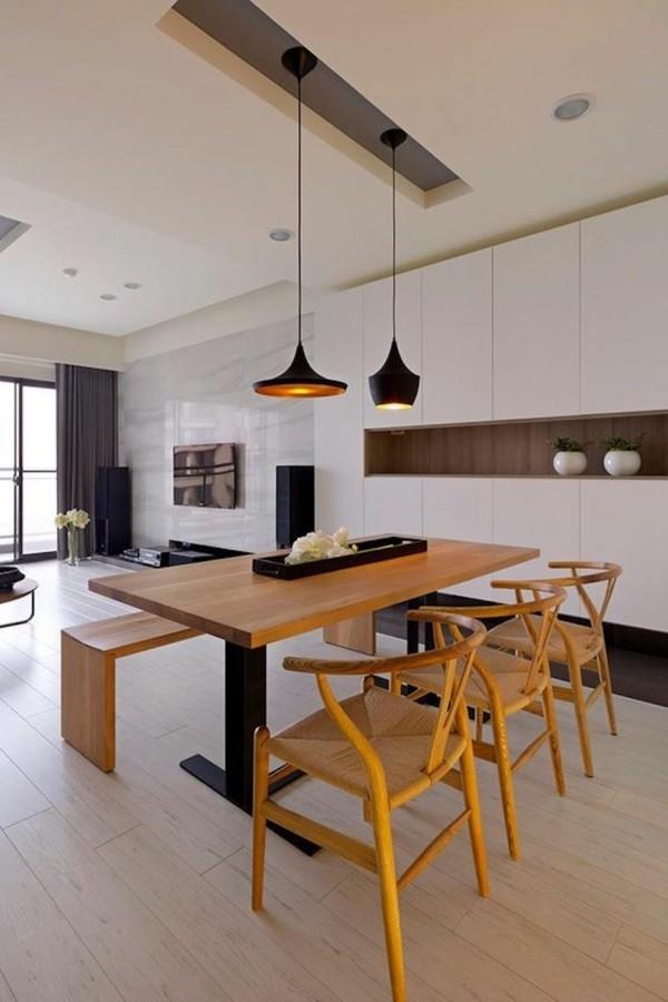 esszimmerm bel aus holz bringen ein nat rliches flair ins. Black Bedroom Furniture Sets. Home Design Ideas