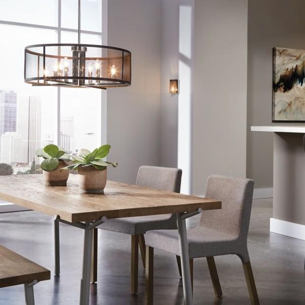 esszimmermöbel holz moderner look neutrale farben
