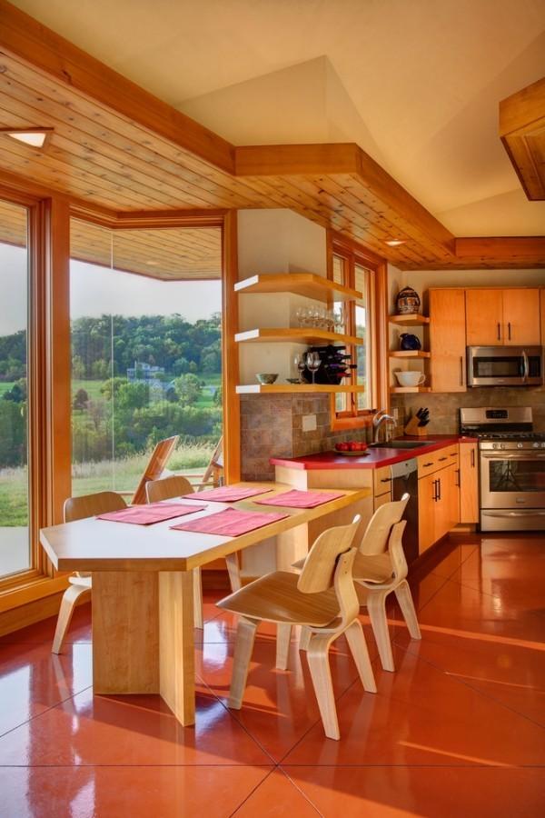 esszimmermöbel holzmöbel wohnküche einrichten essecke gestalten
