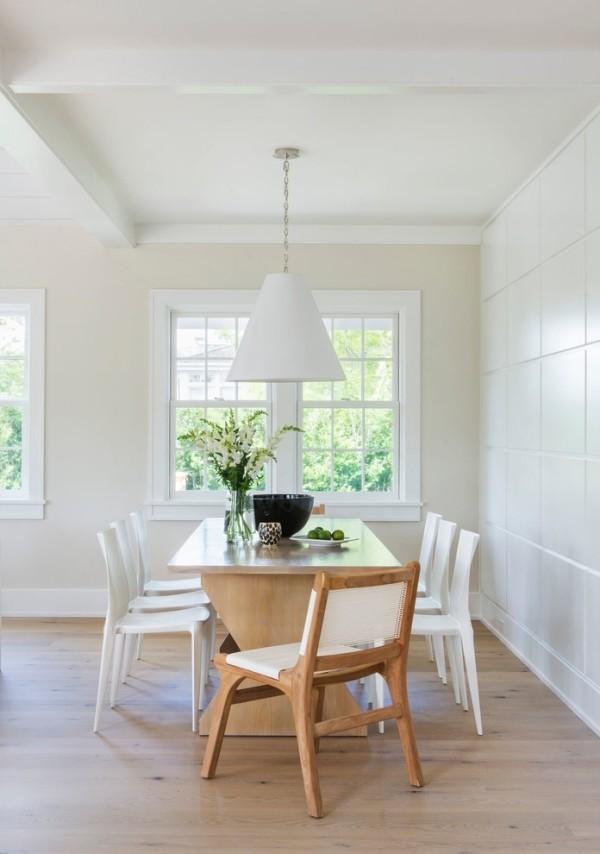 esszimmermöbel holztisch weiße esszimmerstühle