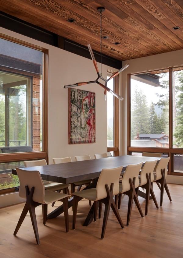 esszimmermöbel langer esstisch ergonomische stühle moderner look