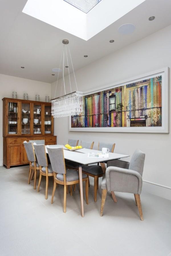 esszimmermöbel moderne holzmöbel weiße wände