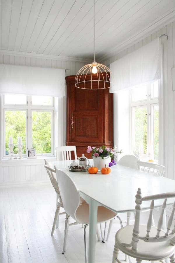 esszimmermöbel weiße möbel holz vintage vitrine