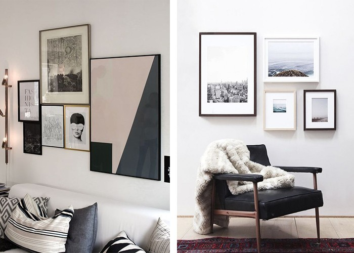 fotowand selber machen cheap wohnung einrichten wohnung. Black Bedroom Furniture Sets. Home Design Ideas