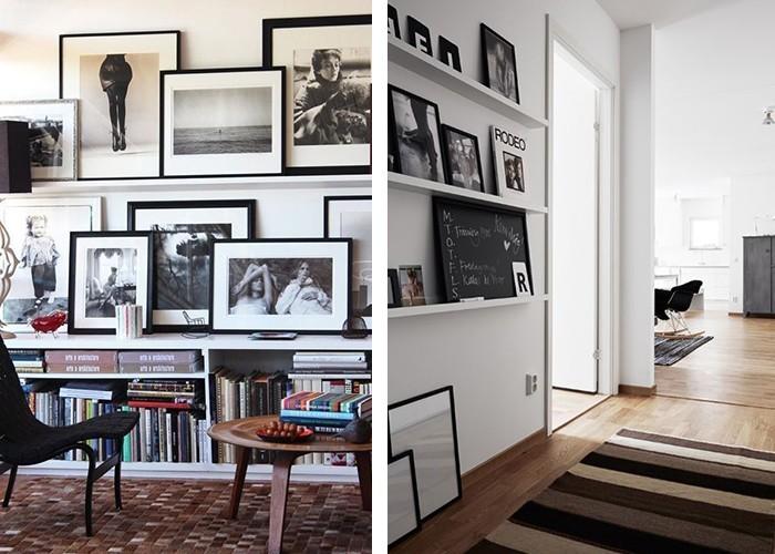 fotowand selber machen wanddeko bilderleisten stilvolle dekoideen wohnräume