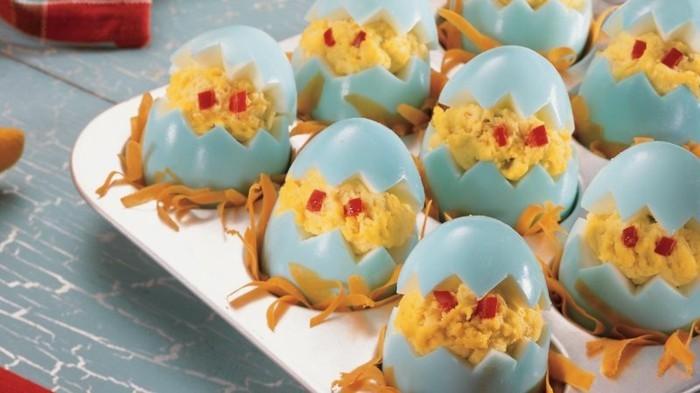 gekochte eier mit kartoffelpüree osterrezepte ideen