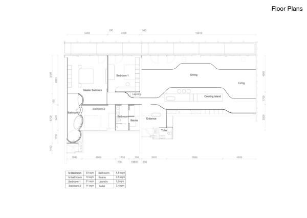 grundriss vom tollen penthouse