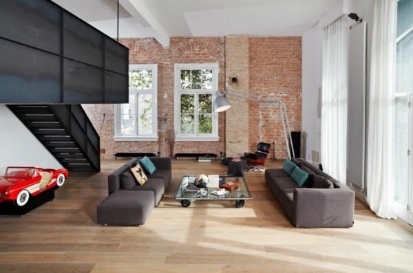 industrial design schwarz grau und rot
