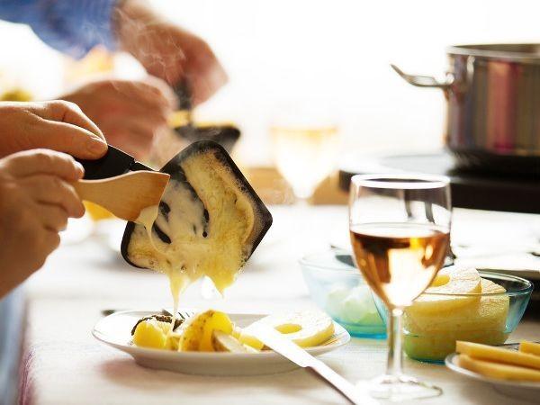 käse ausschutten raclette ideen