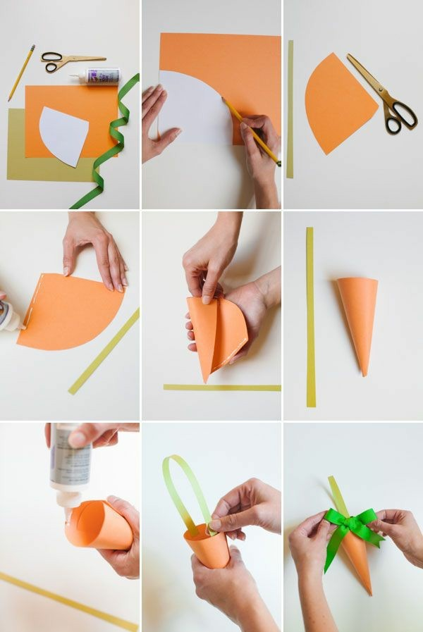 karotte selber machen osterbasteln mit papier