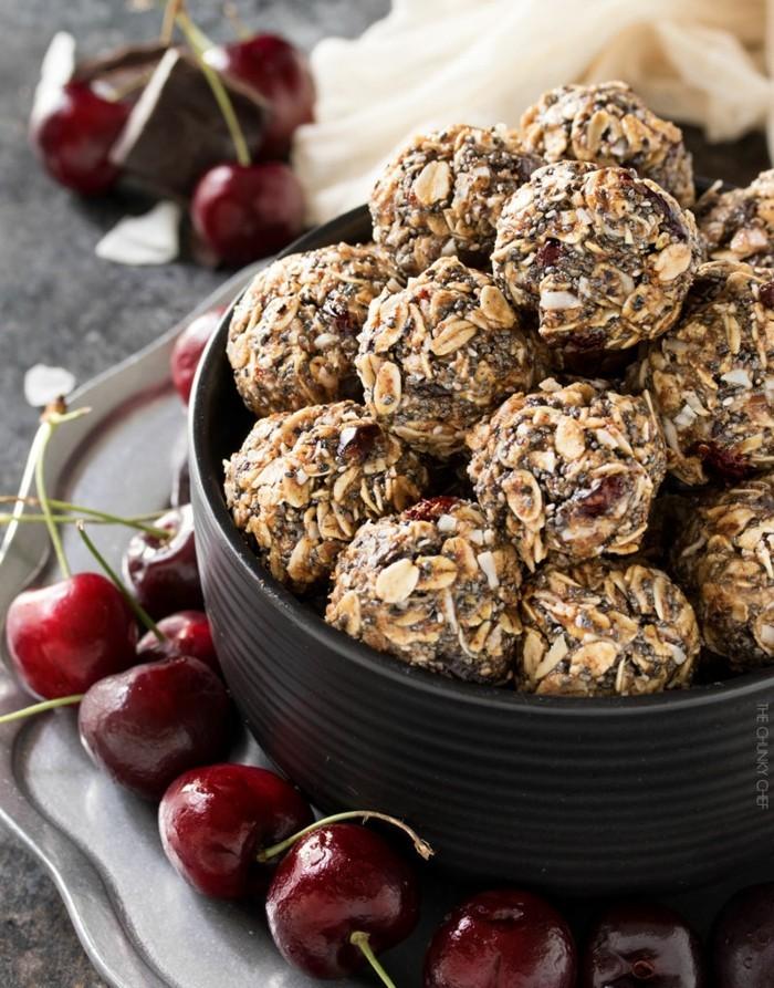 kirschen schokolade mandeln energy balls rezept