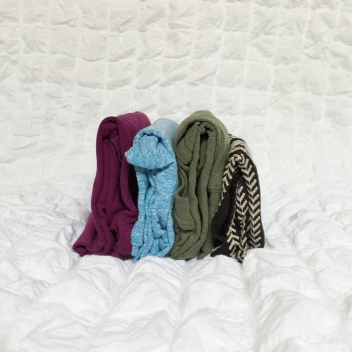 kleider falten konmarie methode