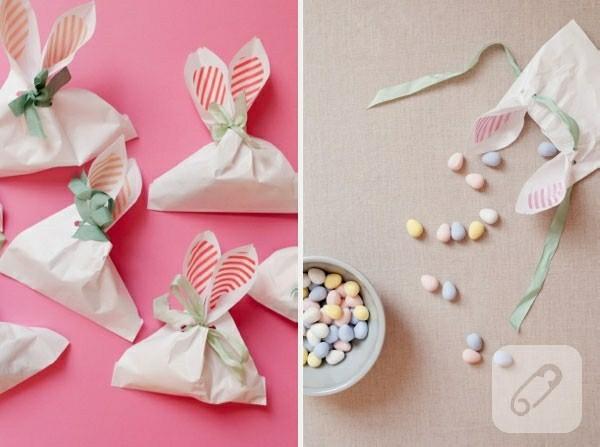 kleine geschenke osterbasteln mit papier tüten bonbons