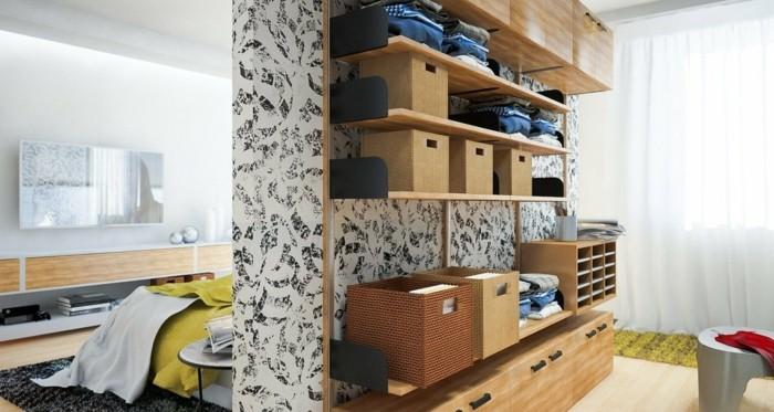 konmari methode aufräumen aufbewahrungsboxe wohnzimmer