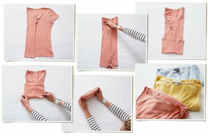 konmari methode t-shirt falten