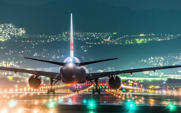 kreative ideen flughafen landendes flugzeug