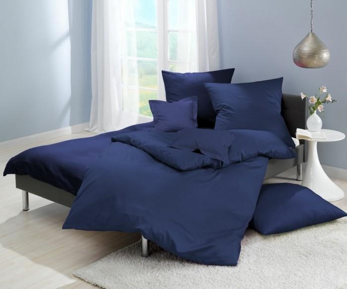 marineblaue bettwäsche schlafzimmer einrichten