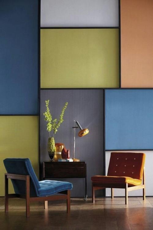 Mehrere Farbige Quadrate Wandfarben Ideen